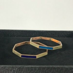 Kenneth Cole Blue Enamel Bangles